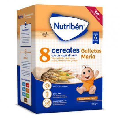 8 cereales miel galletas Maria