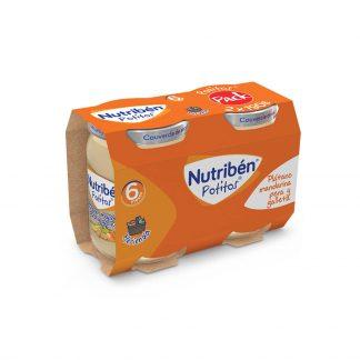 Potito platano, mandarina, pera y galleta