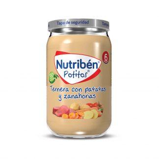 Potito ternera con patatas y zanahorias